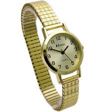 Ravel Ladies Super-Clear Quartz Watch with Expanding Bracelet Gold 28 R0201.11.2