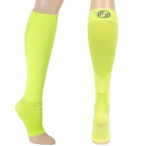 OrthoSleeve FS6+ Compression Foot and Calf Sleeves - Reflector Yellow