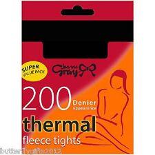 Thermal Fleece Tights 200 Denier for Women