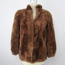 VTG Christie Brothers Womens Mouton Fur Jacket Coat Sz M/L Brown