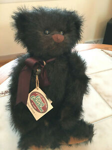 Vintage BUSTER BROWN Bear Ganz Cottage Collectibles Jointed 1996 W/tag Stand