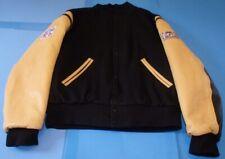 Nice NFL On Fox Varsity Jacket Leather Sleeves Embroidered Logos Medium USA