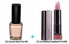 Covergirl 2pc Duo Set Nude Rosa Uñas Barniz & Sweet Pink Lipstick la perfección