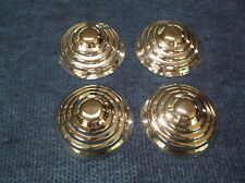"SET OF FOUR (4) NEW 1935 BEEHIVE STYLE PEDAL CAR/WAGON HUBCAPS, 3"" DIAMETER"