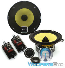 "PIONEER TS-D1330C 5.25"" COMPONENT SPEAKERS CROSSOVERS SOFT DOME TWEETERS NEW"