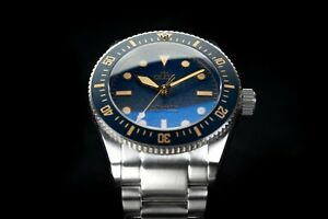 Octon Baltic Blue Gold with Stainless Steel Bracelet - NH35 Automatic Dive Watch