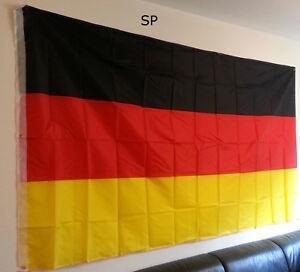 Deutschland Flagge 150 x 250 cm XXL Fahne sehr groß EM WM Olympia SP