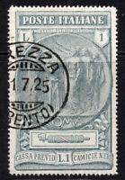 Italy 1 lire Stamp c1923 Fine Used (5182)