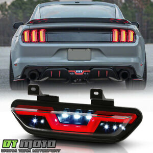 2015-2019 Ford Mustang Smoke w/Red LED Tube Parking Light Reverse Back Up Lamp