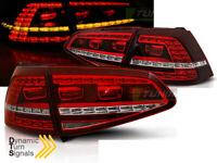 Fari Posteriori LED VW Golf VII 7 13-17 Rossi Bianchi GTI Look Frecce Dinamiche