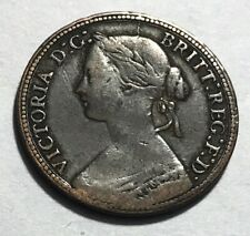 GREAT BRITAIN - Queen Victoria - Farthing - 1860 - KM-747.2 - Beaded Border
