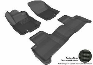 For 2012-2018 Mercedes-Benz Ml Gle Carbon Pattern Black All Weather Floor Mat