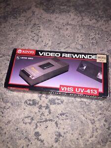 KINYO Super Slim UV-413 80K5 VHS Video Cassette Tape Rewinder New !!