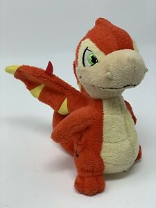"Neopets Red Scorchio Dragon Plush 6"" Stuffed Animal Toy 2007 Jakks Pacific"