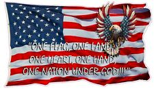 American Flag one nation under god decal 24""
