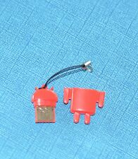 Android Robot Mascot Strap Micro SD/TF USB Card Reader - Red