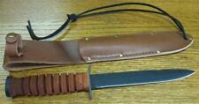 NEW Ontario 8155 M3 Mark III Trench Knife & Leather Sheath US Made w/ 1095 Steel