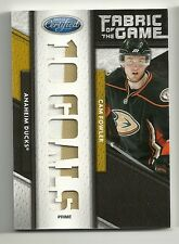 2011-12 Certified FOTG Fabric of the Game PRIME patch CAM FOWLER Serial # 4 of 5