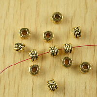 100pcs dark gold-tone studded spacer beads h2344