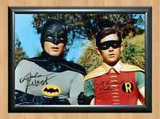 Batman and & Robin Adam West Burt Ward Signed Autographed A4 Poster Print Photo
