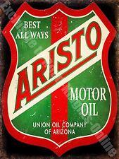 Garage Vintage Aristo Motore Olio Benzina pubblicità Auto,14 Medio Metallo/Tin