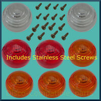 Land Rover Series 2A / 3 Light Lens & Stainless Steel Screw Set Early