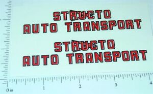 Pair Structo Auto Transport (red/blk) Stickers ST-071