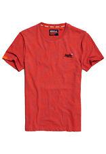 Superdry T-Shirt Herren OL VINTAGE EMB CREW Volcanic Orange Space Dye
