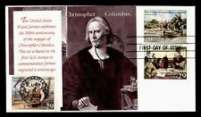 DR WHO 1992 CHRISTOPHER COLUMBUS 500TH ANNIVERSARY S/S FDC C212722
