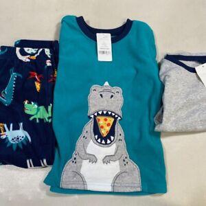Carter/'s Infant Boys 4-Piece Hungry Dinosaur Snug Fit PJs NWT dino pajamas