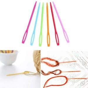 10/12pcs Plastic Sewing Needles Knitting Crochet Hooks Sweater Weaving Tools Kit