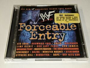 WWF FORCEABLE ENTRY Wrestling Metal CD RARE Best Buy 2-Disc Wrestlemania Edition