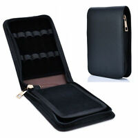 12 Pens Fountain Pen Roller Leather Case Holder Stationery For Office Student