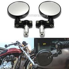Pair Motorcycle Folding Bar End Mirrors Fit For Kawasaki Ninja 300 500 500R 600R