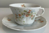 Lovely Vintage Weimar Floral Cup And Saucer, Hand Painted, Germany, Excellent