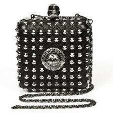 New Rock Black Vegan Leather Studded Bag Purse Chain Rock Punk Goth Glam