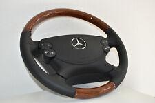 Mercedes Benz Holzlenkrad Wurzelnuss W209 W211 R230 W463 mit Modul SL E-Klasse