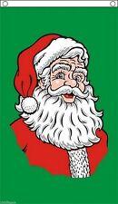 Traditional Santa Green Flag 5'x3' Xmas Celebration Christmas Decoration
