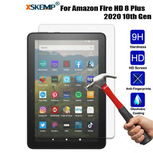 HD Clear Tempered Glass Screen Protector For Amazon Fire HD 8 10th HD8 Plus 2020