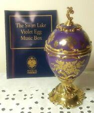 New listing The Franklin Mint House of Faberge Violet Musical Egg Box Swan Lake Tchiakovsky