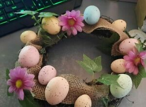 25cm Spring Easter Eggs Door Wreath Window Wedding Wall Decoration Party Garland