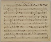 CÄCILIENMARSCH Musik Noten Handschrift Original Notenblatt um 1850 Komposition