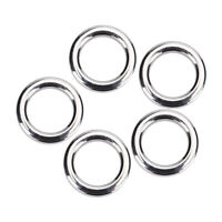 50Pcs/set Stainless Steel Fishing Split Rings Fish Lure Bait Connector Accessory
