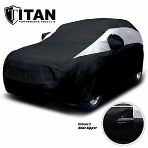 Titan Lightweight Mid-Size SUV Car Cover Jet Black for Ford Explorer Jeep Gra...