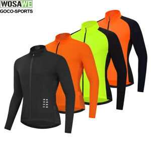 Men's Long Sleeve Cycling Jersey Breathable Lightweight Mountain Bike Clothing