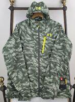 UNDER ARMOUR Size XL UA Storm Mens Camo Hooded Full ZIp Nylon Windbreaker Jacket