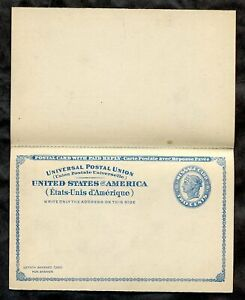 4839 - UPU 2c Postal Card with Reply. Unmailed