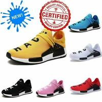 Mens Womens Sneakers New Human Race Sports Running Shoes Leisure Athletic lay1