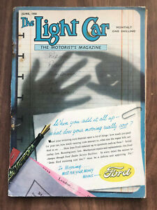 The Light Car Magazine June 1950 Ford Front Cover