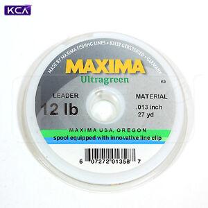 Maxima Ultragreen Leader & Tippet Material, Moss Green, 27 yards
